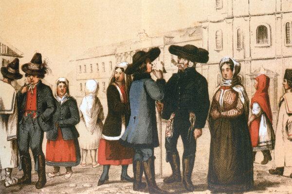Nemci, Maďari, Slováci a Chorváti v Prešporku.
