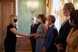 Prezidentka počas stretnutia s europoslancami.