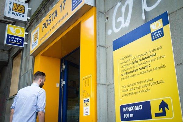 Poštová banka je piata najväčšia na Slovensku.