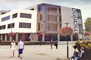 Vizualizácia plánu je napohľad oveľa krajšia než súčasný stav budovy.