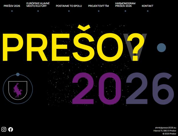 Nový web prešovského projektu mesta kultúry.