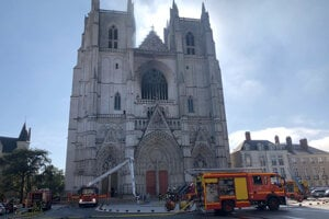 Požiar v Katedrále svätého Petra a Pavla v Nantes.