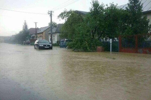 Povodne na hornom Zemplíne.