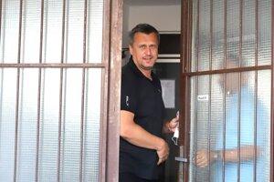 Predseda SNS Andrej Danko po výsluchu na NAKA v Banskej Bystrici.
