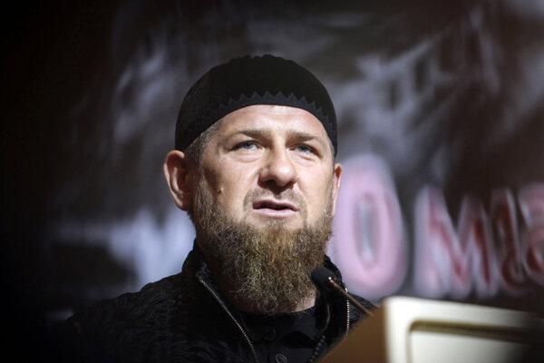 Čečenský vodca Ramzan Kadyrov na archívnej snímke z 10. mája 2019.
