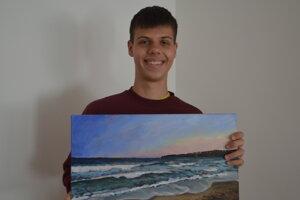 Alex Duleba je mladým prešovským talentom v maľovaní.