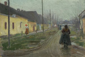 Teodor Jozef Mousson: Na dedine, Východoslovenská galéria.