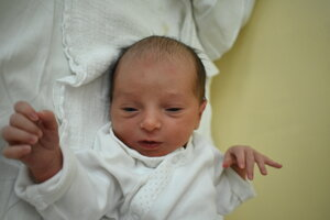 Nina Marková (2480 g, 45 cm) sa narodila 27. júla Lucii a Richardovi z Bánoviec nad Bebravou.