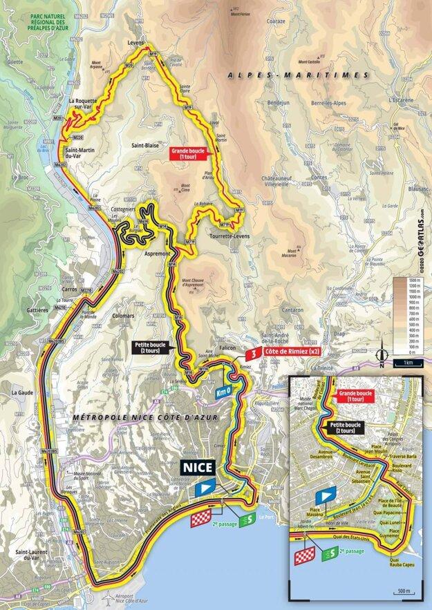 1. etapa na Tour de France 2020 - mapa.