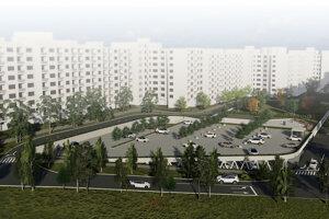 Developer ponúka na svojej webovej stránke dve varianty parkovacieho domu.