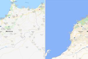 Maroko pred a po aktualizácii.