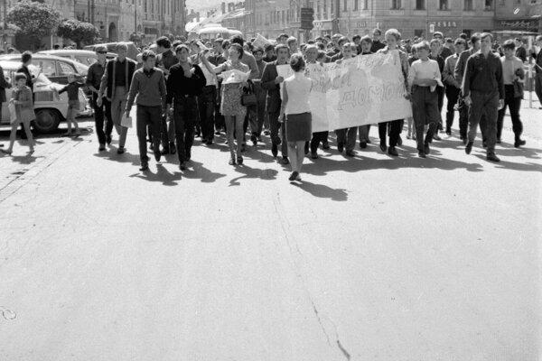 August 1968 v uliciach Banskej Bytrice