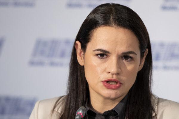 Opozičná líderka Sviatlana Cichanovská.