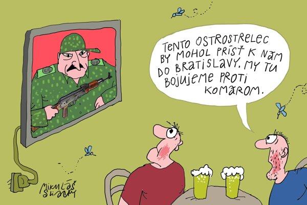 Lukašenko s kalašnikovom