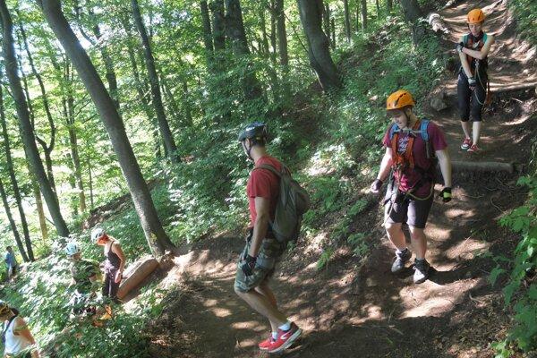 Via ferratový areál na Sklake získava na popularite, pribúdajú však aj zásahy horských záchranárov. Ilustračné foto.