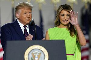 Americký prezident Donald Trump a prvá dáma USA Melania Trumpová.