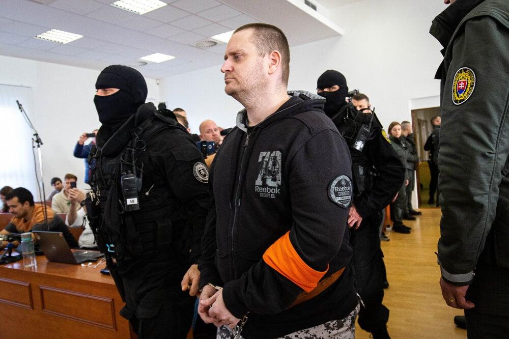 22. január 2020. Miroslav Marček počas hlavného pojednávania vo veci vraždy novinára Jána Kuciaka a jeho snúbenice Martiny Kušnírovej.