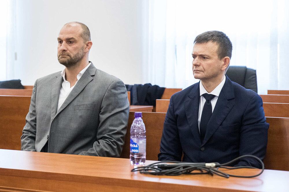 20. január 2020. Norbert Bödör a Jaroslav Haščák počas hlavného pojednávania.