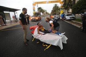 Rafael Valls si v 1. etape Tour de France 2020 zlomil kľúčnu kosť.