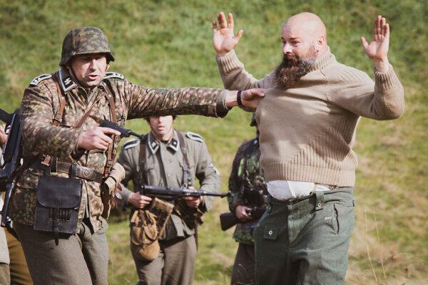Rekonštrukcia bojov v SNP v Nižnej Boci.