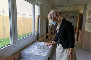 Riaditeľka štátnej školy Adriána Mižigarová.
