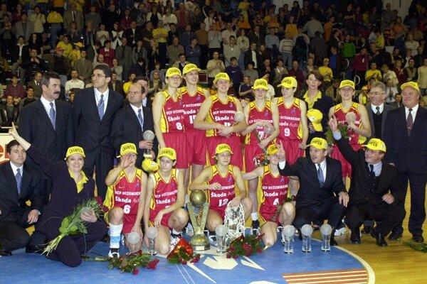 Basketbalistky Ružomberka pred dvadsiatimi rokmi obhájili titul v Európskej lige na domácej pôde.