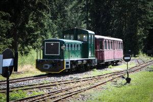 Expozícia Považskej lesnej železnice v múzeu liptovskej dediny v Pribyline.