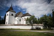Svätomarský kostol v Múzeu liptovskej dediny v Pribyline.