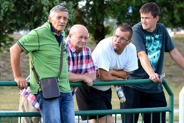 Dušan Radolský (vľavo) viedol aj Slovan, Žilinu či reprezentáciu. Vedľa neho je manažér MŠK Ladislav Strasser.