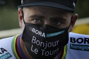 Peter Sagan pri tímovej prezentácii deň pred štartom Tour.