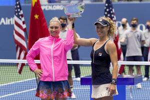 Nemecko-ruská dvojica sa teší z výhry na US Open 2020.