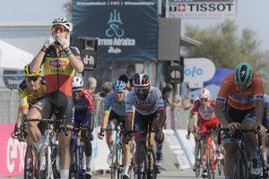 Tim Merlier vyhráva 6. etapu na Tirreno - Adriatico 2020.