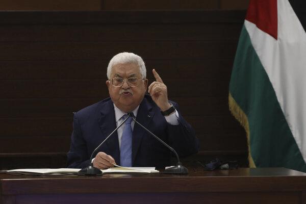 Palestínsky vodca Mahmúd Abbás.