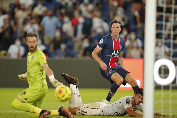 Momentka zo zápasu PSG - Metz.