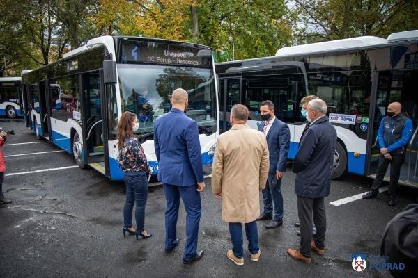 Nové autobusy v popradskej MHD.