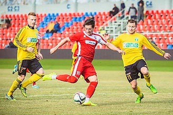 Kamil Karaš (na snímke z prípravného zápasu) strelil v sobotu svoj prvý majstrovský gól za FC ViOn.