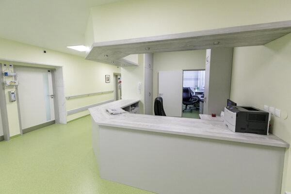 Priestory zrekonštruovaného Oddelenia onkohematológie I. v Národnom onkologickom ústave v Bratislave 7. augusta 2019.