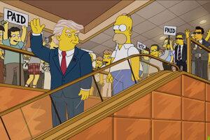 Homer Simpson zvažuje, či bude voliť Trumpa.