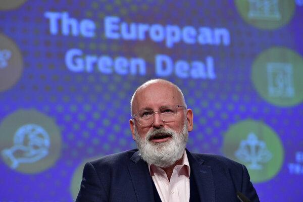 """Frans Timmermans, výkonný podpredseda Európskej komisie zodpovedný za """"zelenú dohodu""""."""