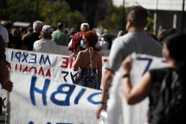 Štrajk v Grécku.