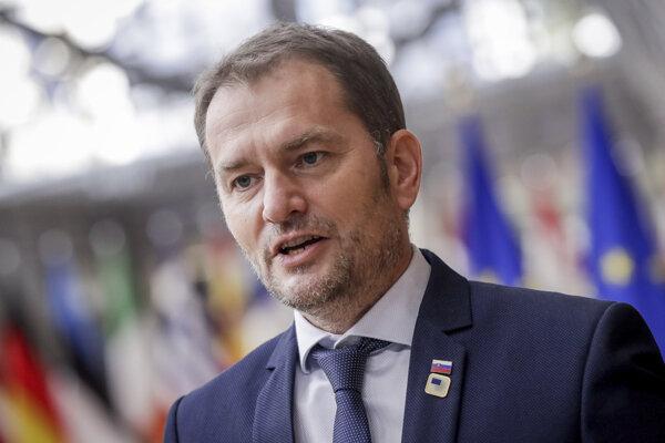 Premiér SR Igor Matovič na summite EÚ v sídle Európskej rady v Bruseli.