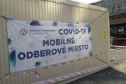 Mobilné odberové miesto v Považskej Bystrici