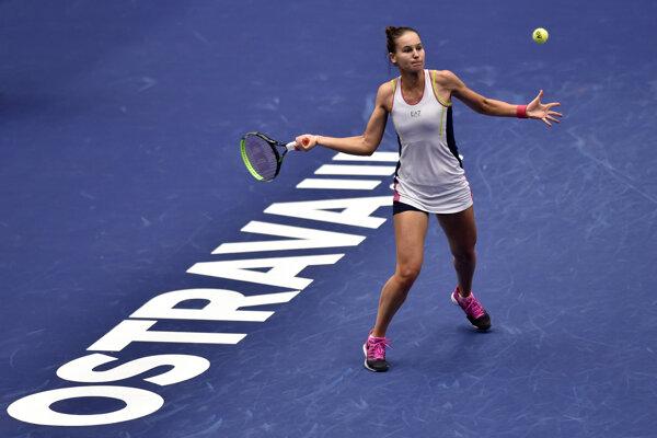 Ruska Veronika Kudermetovová na turnaji WTA v Ostrave.