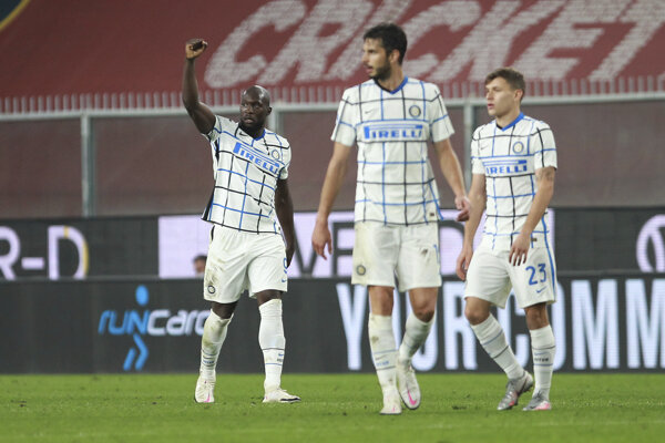 Futbalisti Interu Miláno.