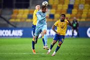 Momentka zo zápasu DAC Dunajská Streda - Slovan Bratislava.