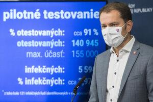 Premiér Matovič hodnotí celoplošné testovanie na Orave a Bardejove.