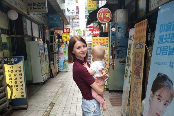 Dominika Sakmárová v Južnej Kórei.