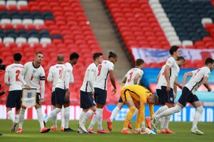 Futbalisti Anglicka - ilustračná fotografia.