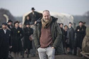 Režisér Peter Bebjak počas natáčania filmu Správa.