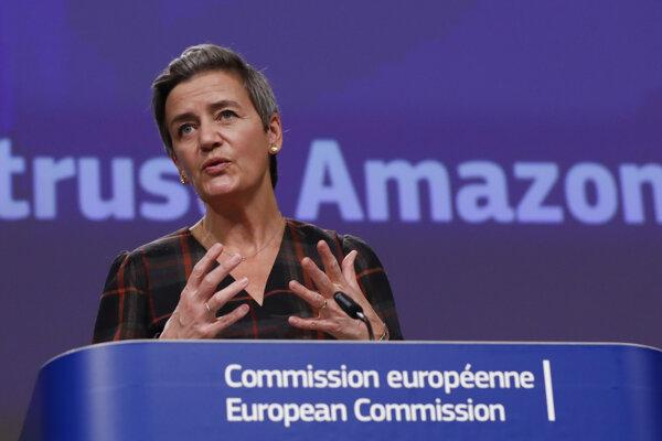 Margrethe Vestagerová, výkonná podpredsedníčka Európskejkomisiezodpovedná za politiku hospodárskej súťaže.